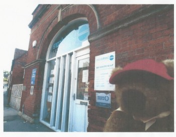 Ginger Bear outside dentists (2)